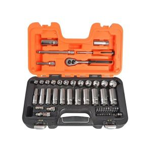 Bahco S330L Socket Set of 53 Metric 3/8in Deep Drive + 1/4in Accessories