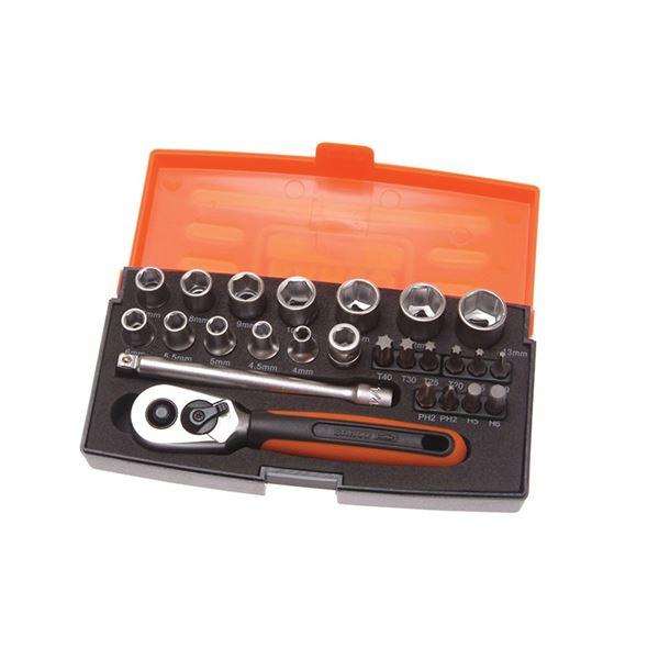 Bahco SL25 Socket Set of 25 Metric 1/4in Drive