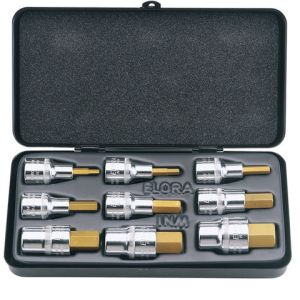Draper Draper 770-INMTIN 9 Piece Metric Hexagon Socket Bit Set