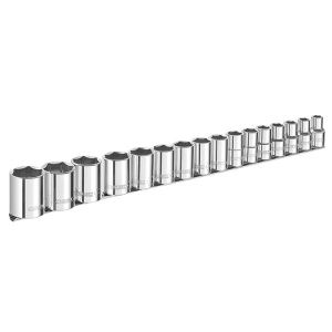 Expert Socket Set of 16 Metric 1/2in Drive