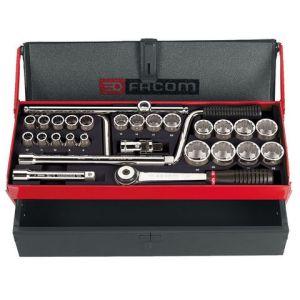 "Facom Facom S.442EP 1/2"" Drive 28 Piece Metric Socket Set"