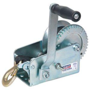 Sealey Sealey GWW2000M Geared Hand Winch 900kg Capacity with Webbing Strap