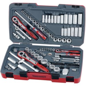 "Teng Teng TM111 1/4 , 3/8 & 1/2"" Drive Metric/Imperial Socket Set 111 Piece"