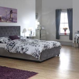 Utah Double Ottoman Bed Grey