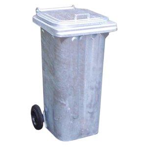 120L Galvanised Steel Wheelie bin