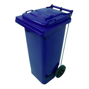 120L Pedal Operated Blue Wheelie Bin