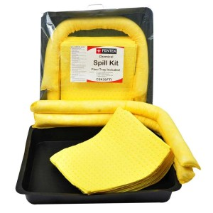 15 Litre Chemical Spill Kit with 52cm x 52cm flexi tray