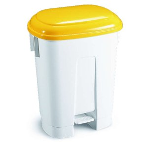 30 Litre Pedal Bins With Yellow Lid