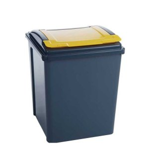 50 Litre Recycling Bin With Red Lid