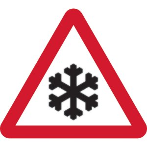 600mm Tri. Temporary Sign & Frame - Risk of Ice