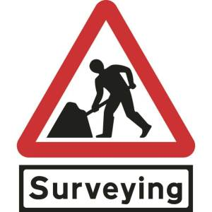 600mm Triangular Road Works & Surveying Supp Plate Roll-up Sign