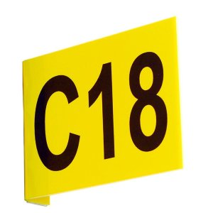 Aisle Marker Signs C/W Digits Flanged 95h x 130w upto 3 Digits ea side