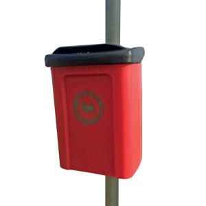 Apollo Post Mounted Dog Waste Bin