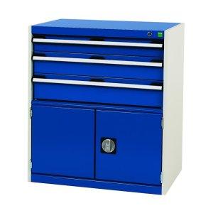 Bott Cubio - Freestanding lockable 5 drawer cabinet - 800 x 650 x 650