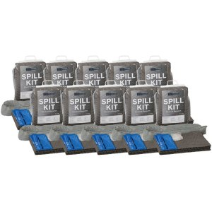 Box of 10 Oil & Fuel 10litre spill kits