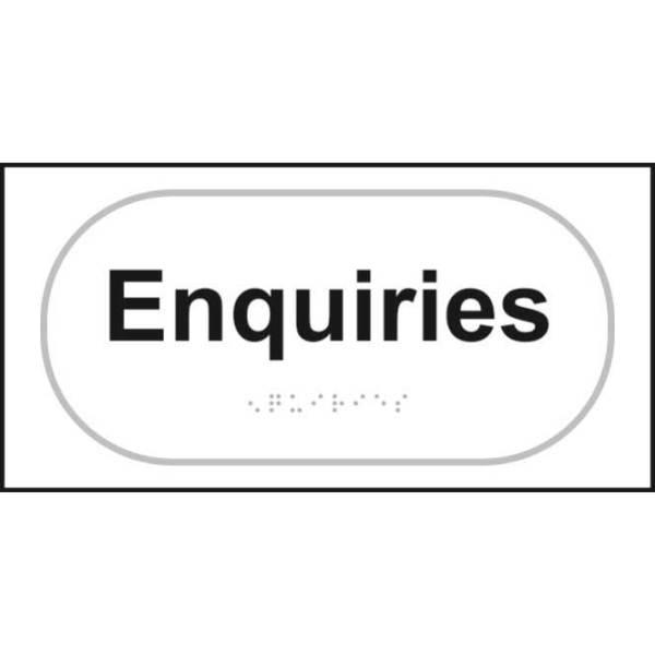 Braille Enquiries Sign