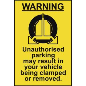 Clamping Warning Sign - Sign - PVC (400 x 600mm)
