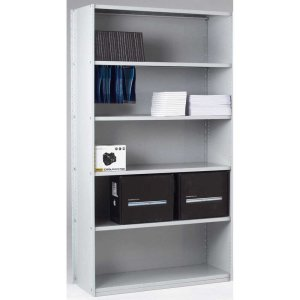 Closed Back Solo Shelving Extension Bay - 2150 x 1250 x 300 6 Shelves