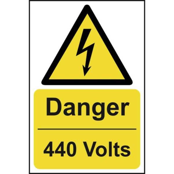 Danger 440 volts - Sign - PVC (200 x 300mm)