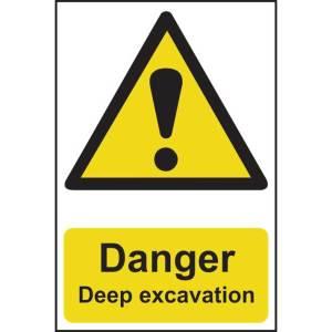 Danger Deep Excavation Sign - PVC (200 x 300mm)