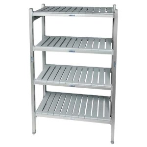 Eko fit Aluminium Shelving - 4 Shelf levels 600d x 1370 Starter Bay