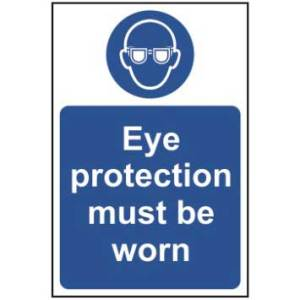 Eye Protection Must Be Worn Sign - RPVC (400 x 600mm)