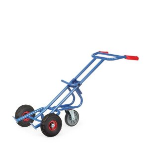 Fetra Steel Drum Trolley - 2 Solid Rubber Tyres And 2 Solid Wheels - 300kg