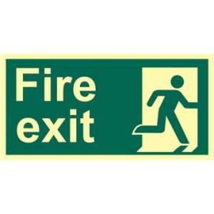 Fire Exit Man Right Sign - PHO (300 x 150mm)