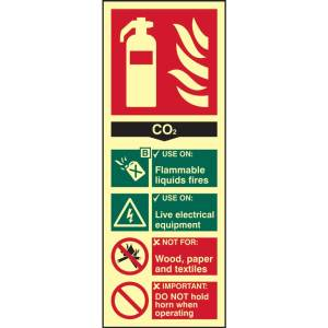 Fire Extinguisher: CO2 Sign - PHO (82mm x 202mm)