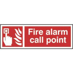 Fire alarm call point - Sign - PVC (300 x 100mm)