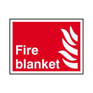 Fire blanket - Self Adhesive Sticky Sign (200 x 150mm)
