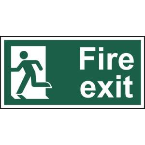 Fire exit (Man left) - Self Adhesive Sticky Sign (300 x 150mm)