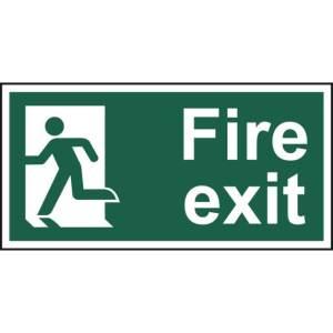 Fire exit (Man left) - Sign - PVC (300 x 150mm)