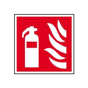 Fire extinguisher symbol - Sign - PVC (200 x 200mm)