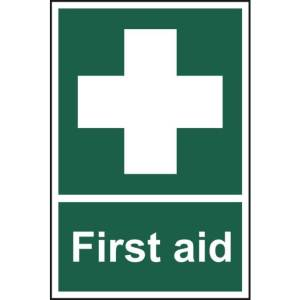 First aid - Self Adhesive Sticky Sign (200 x 300mm)