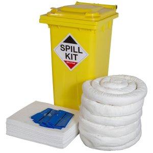 General Spill Kit in yellow wheelie bin