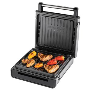 George Foreman Stainless Steel Smokeless Grill 28000
