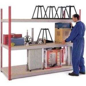 H/D Just Shelving - 1981h x 900w x 450d 3 Chipboard Shelf Levels