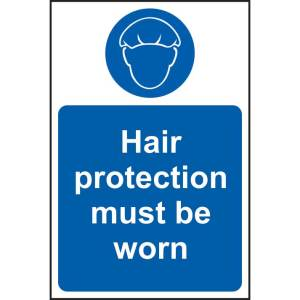Hair Protection Must Be Worn Sign - SAV (200 x 300mm)