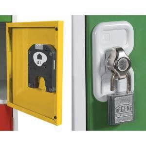 Hasp & Staple Lock (factory fit) for Cube, Quarto, Standard M Lockers