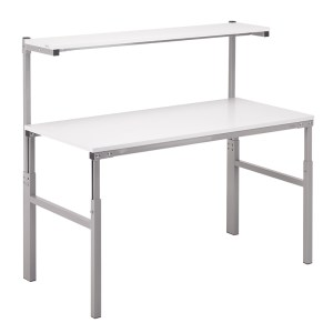 Height Adjustable ESD Workbench Allen Key 900x1800 Worktop inc Shelf