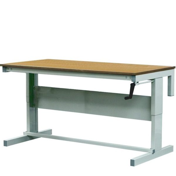 Height Adjustable Workbenches with Hardwood Top 1500w x 600d Bench
