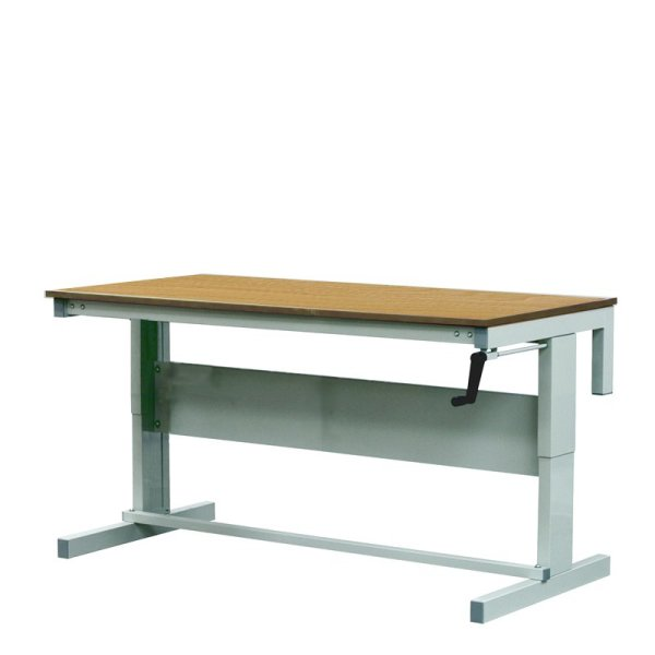 Height Adjustable Workbenches with Hardwood Top 1800w x 750d Bench