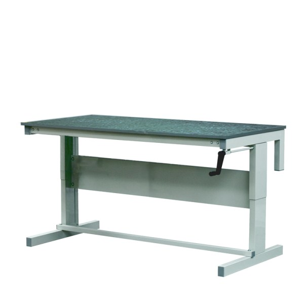 Height Adjustable Workbenches with Lino Top 1800w x 600d Bench