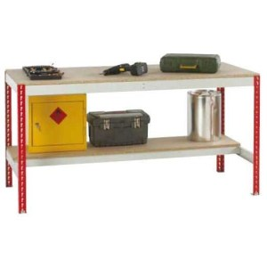 Just Workbench with Chipboard Top & Half Under shelf 2400 w x 900 d