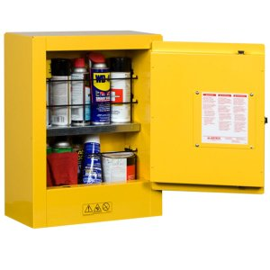 Justrite Compact Flammable Storage Cabinet - manual close - 8912001