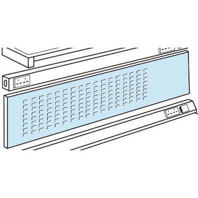 Louvre Panel / Pinboard (zinc) 450h for ESD Workbench 1800w