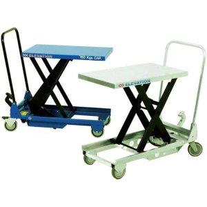 Manual Mobile Single Scissor Lift Table 1,000kg cap