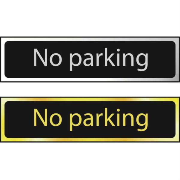 No Parking - Sign CHR (200 x 50mm)
