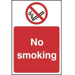 No smoking - Self Adhesive Sticky Sign (100 x 150mm)